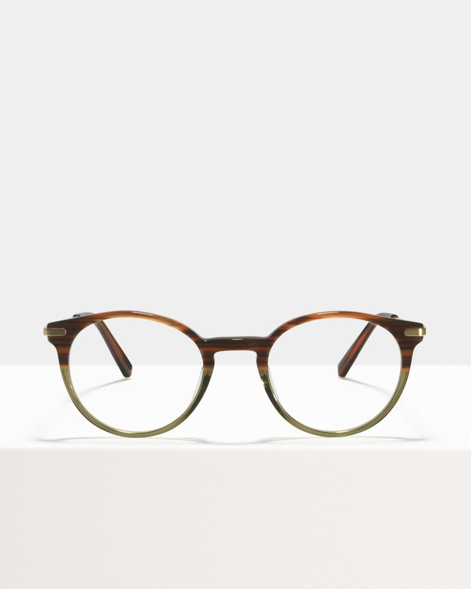 Round sunglasses in Transparent Ace & Tate hvEc2SILQe