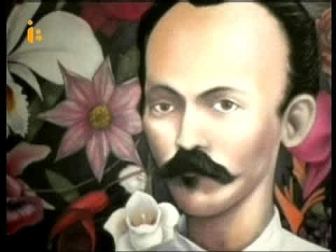 José Martí con flores