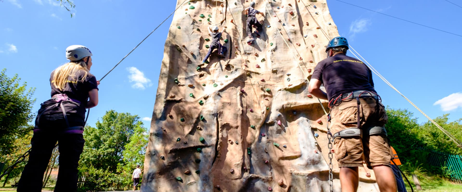 Climbers on our Climbing wall in Birmingham