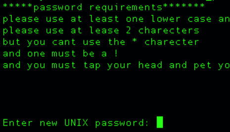 How To Display A Custom Password Requirement Message For Linux Password Changes