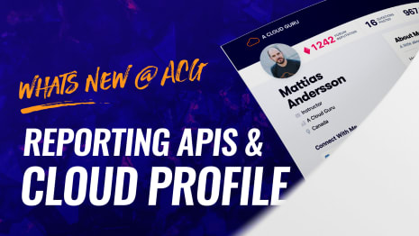 Whats new @ ACG - Reporting apis & cloud profile