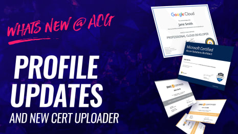 Whats new @ ACG - Profile Updates and new cert uploader