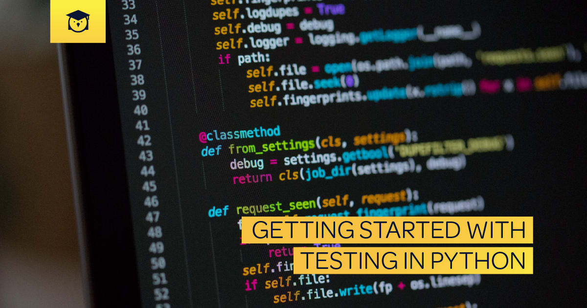 getting started with testing in python