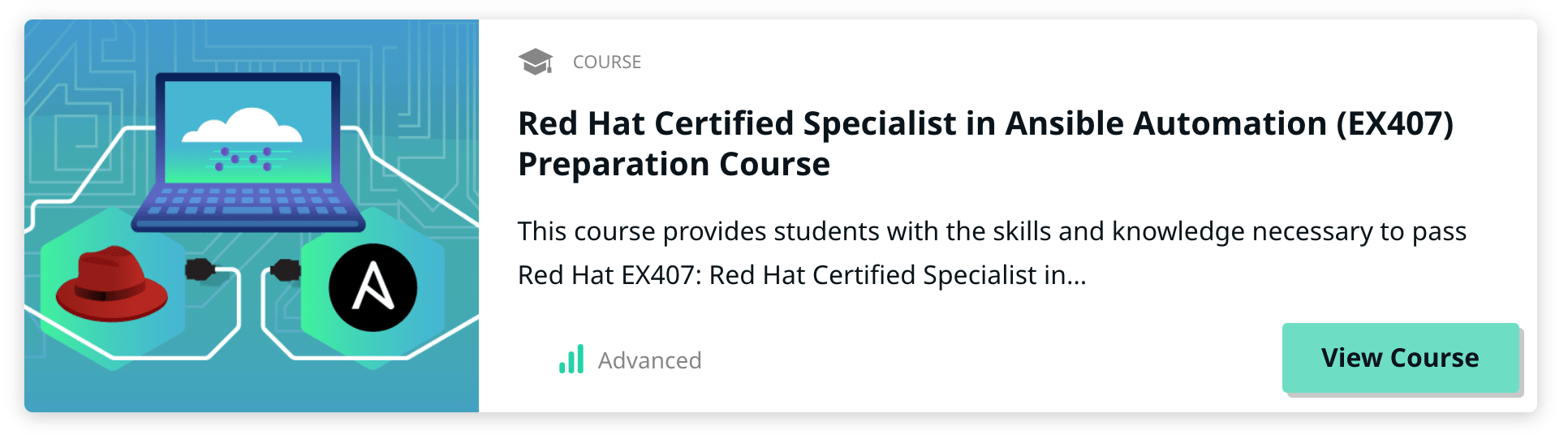 Red Hat Certified Specialist in Ansible course on Linux Academy