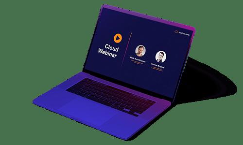 laptop showing ACG Cloud Webinars