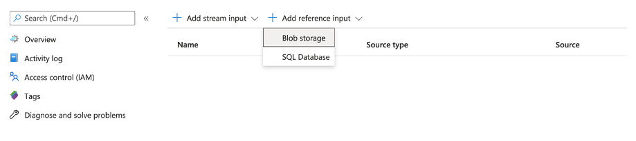 Visual showing where to find Blog Storage