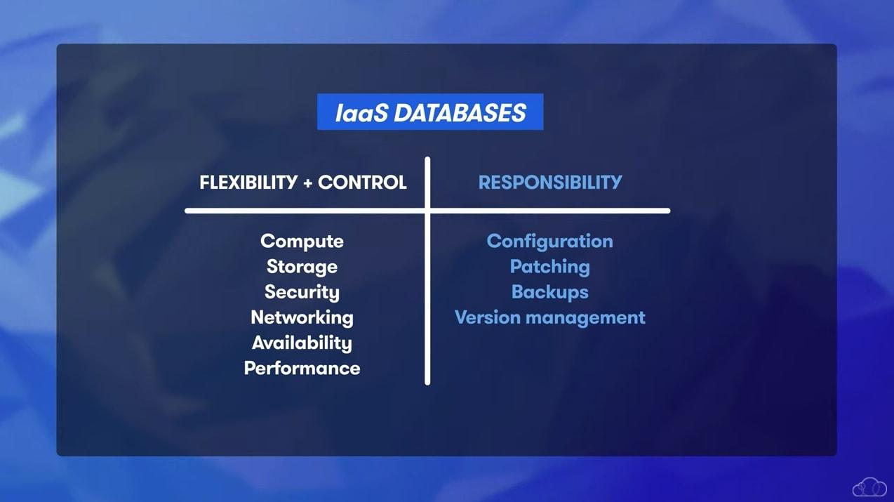 IaaS Database Benefits