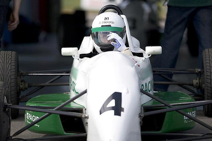 Single Seater Racing Car Driving