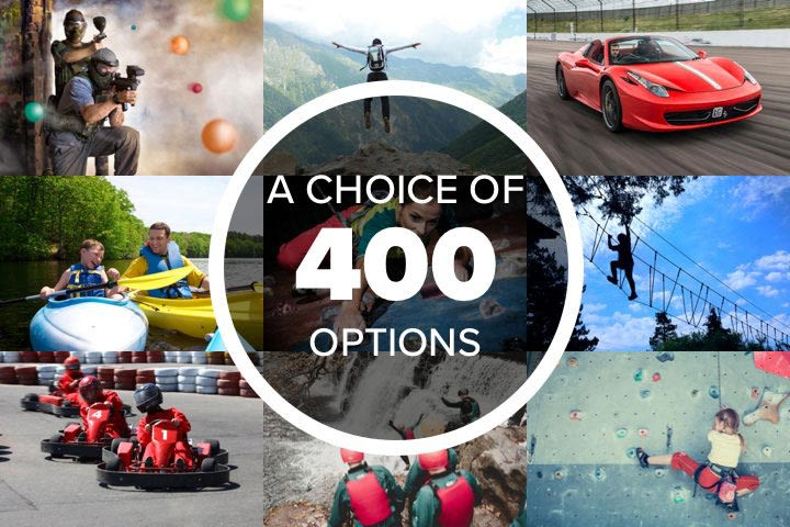 Mega Choice for Kids and Teens - Experience Day Voucher