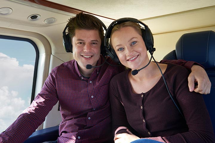Blue Skies Helicopter Flight with Bubbly for Two