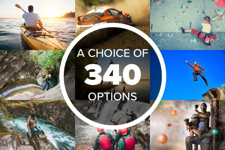 Mega Choice for Adrenaline & Sport Experience Day Voucher