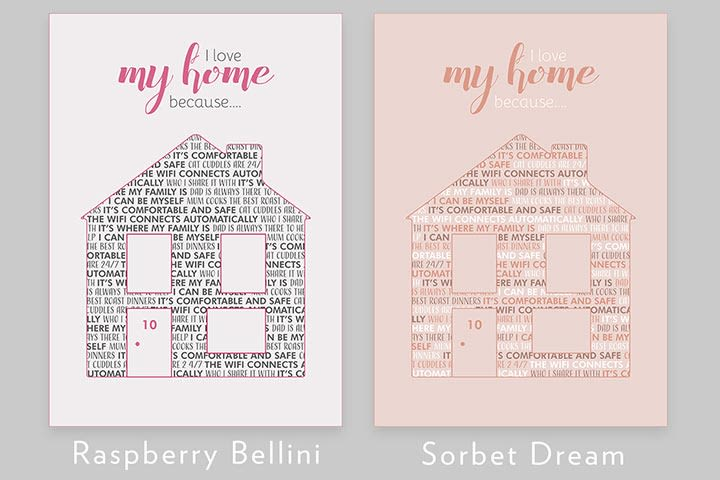 Personalised I Love My Home Because Light Box