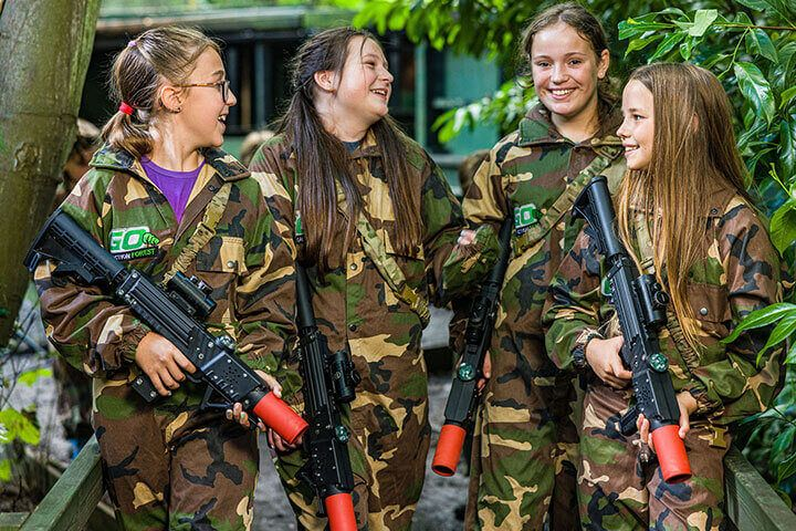 Forest Laser Tag with Lunch for Four