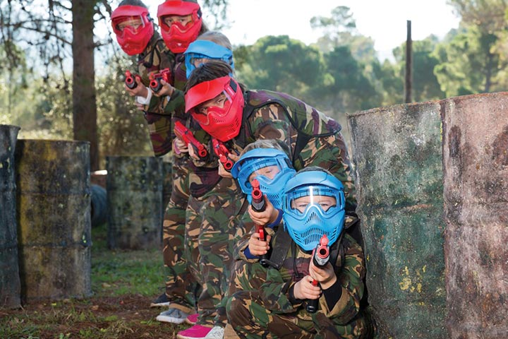 Junior Paintball Experience for Four (8 to 12 year olds)