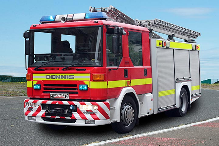 Fire Engine Driving at Prestwold Driving Centre