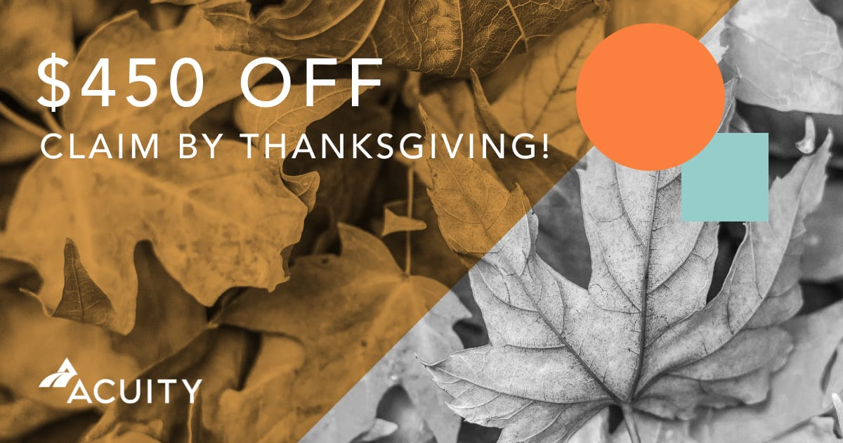 Fall Promo: $450 Off Any Acuity Service