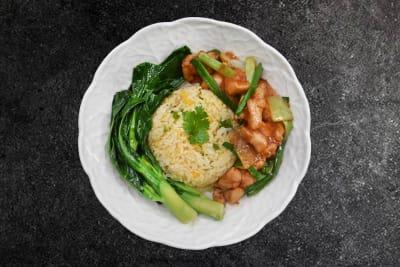 GINGER & SPRING ONION CHICKEN RICE BOWL 姜葱鸡丁盒饭
