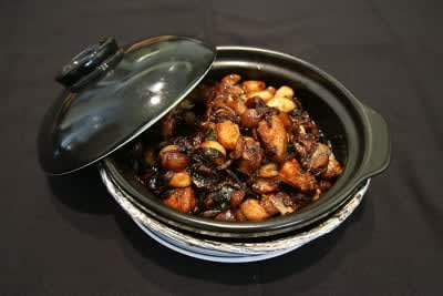 TEQUILA INFUSED CHICKEN IN CLAYPOT 三杯鸡- LARGE