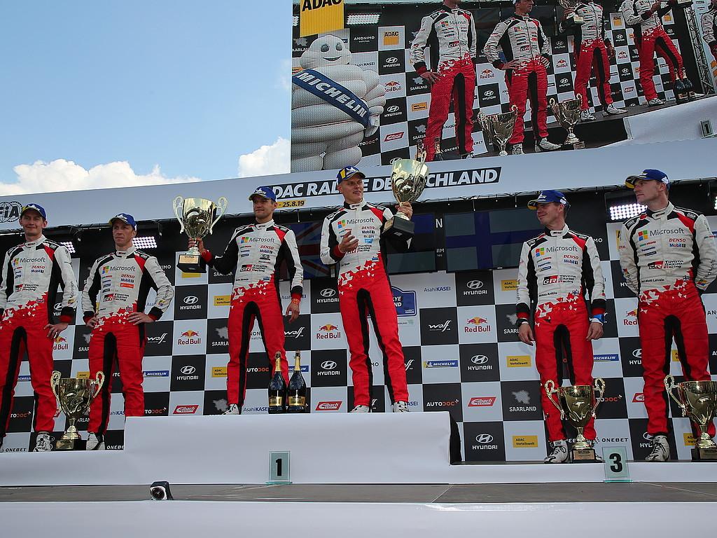 Hattrick-Sieg für Ott Tänak und Toyota: Perfektes Wochenende für Toyota Gazoo Racing WRT beim deutschen WM-Lauf