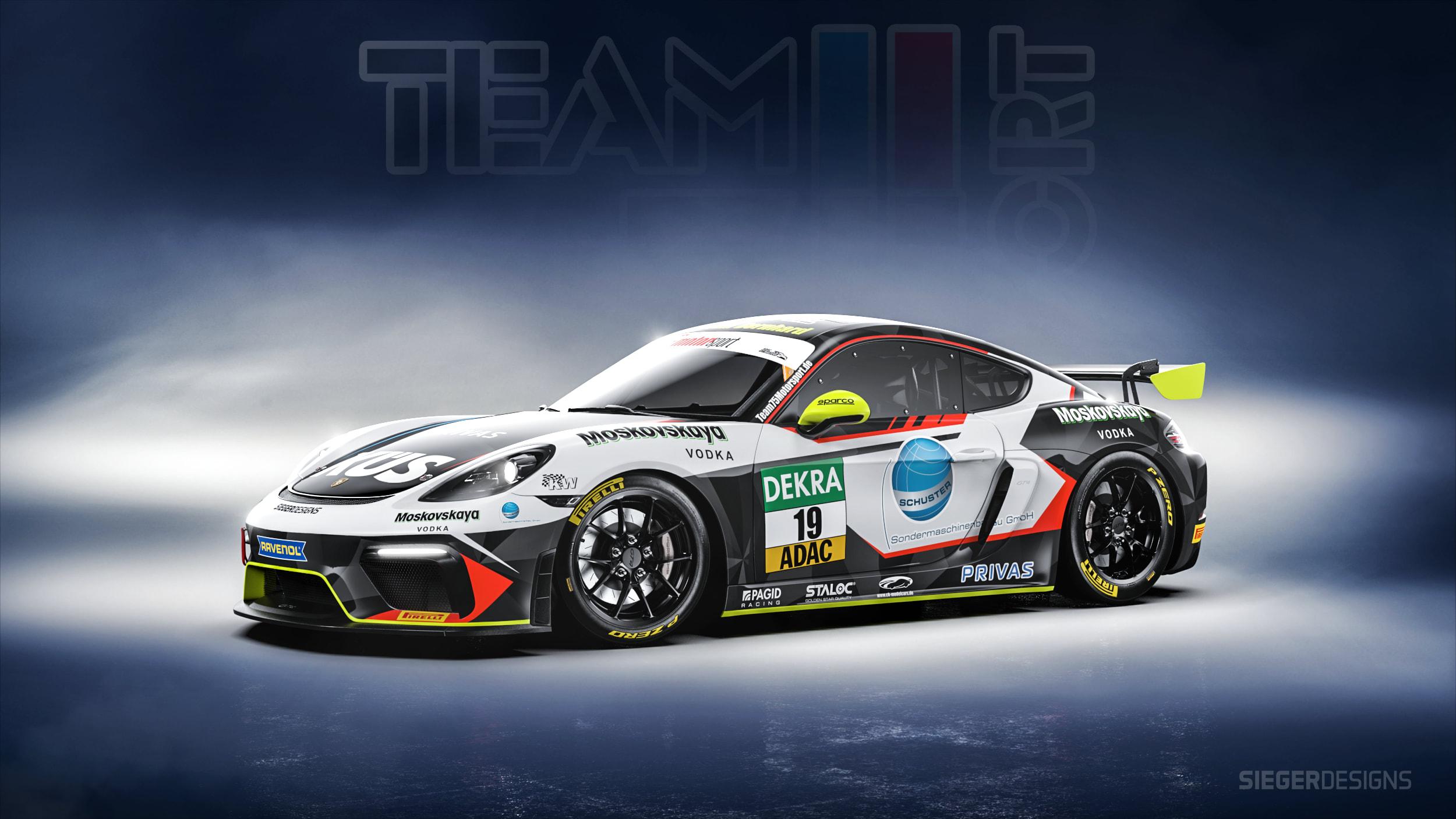 Neues Design für den Team75-Cayman GT4
