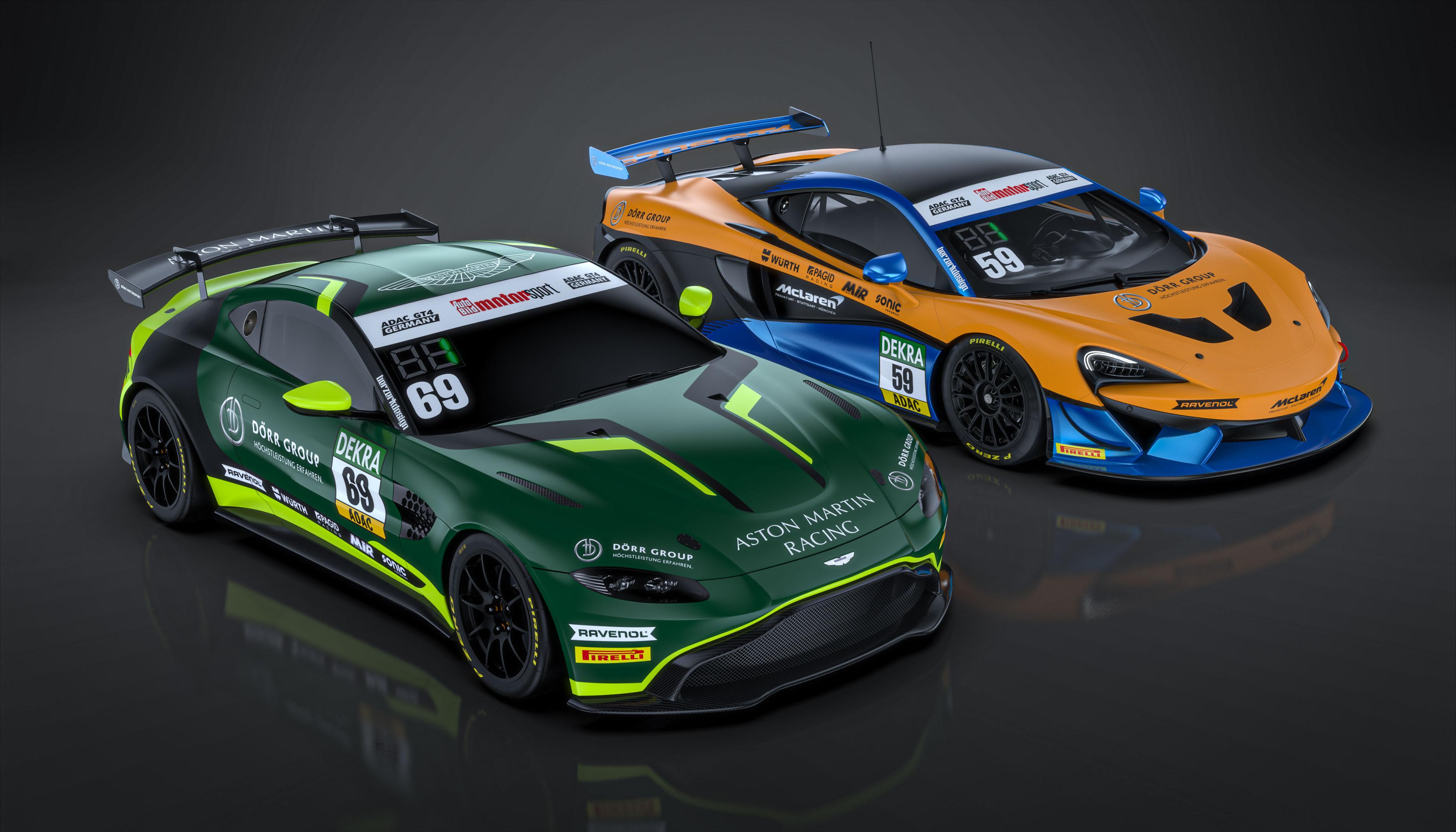 Dörr Motorsport mit Aston Martin und McLaren in der ADAC GT4 Germany