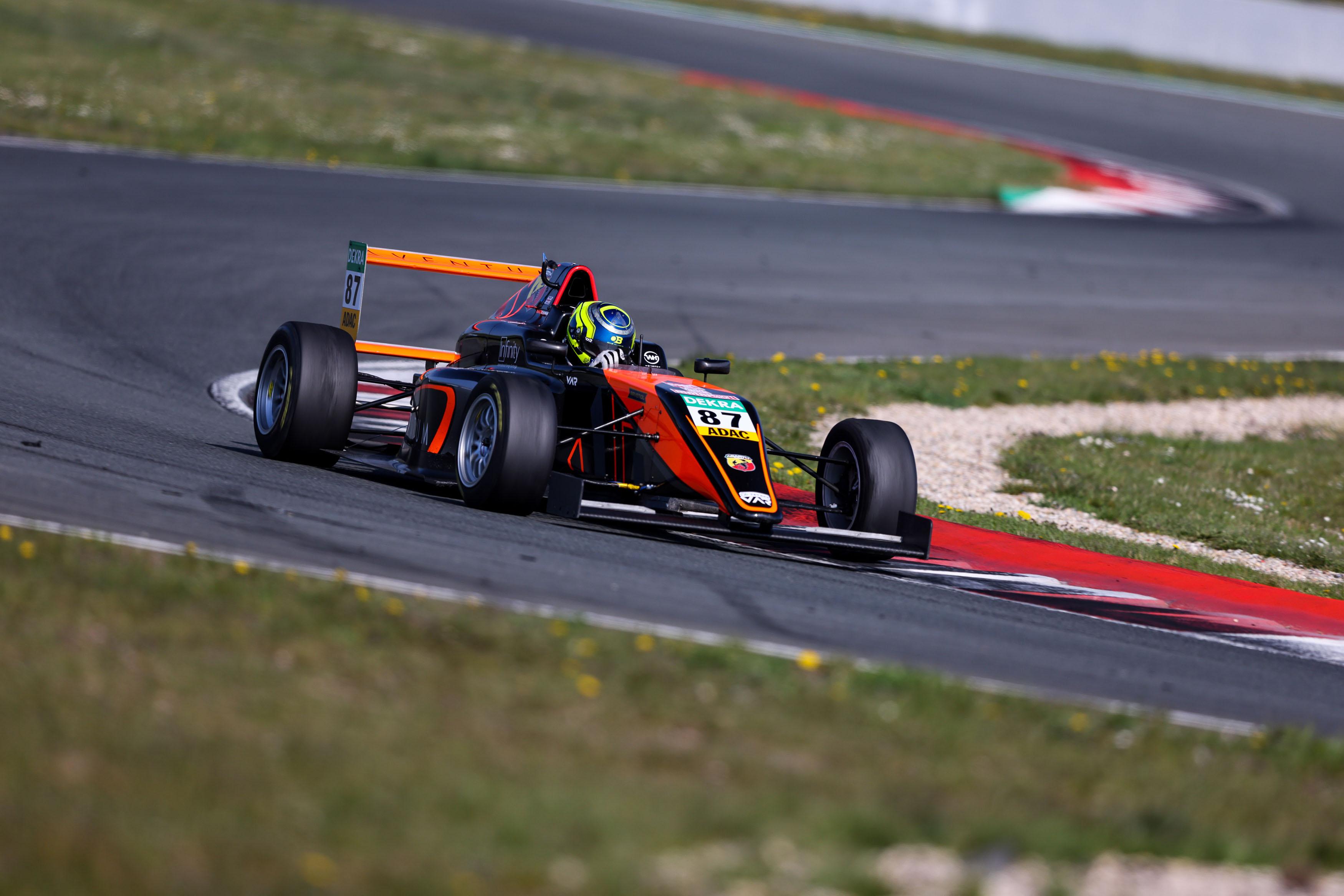 Best time in testing for Van Amersfoort driver Bearman