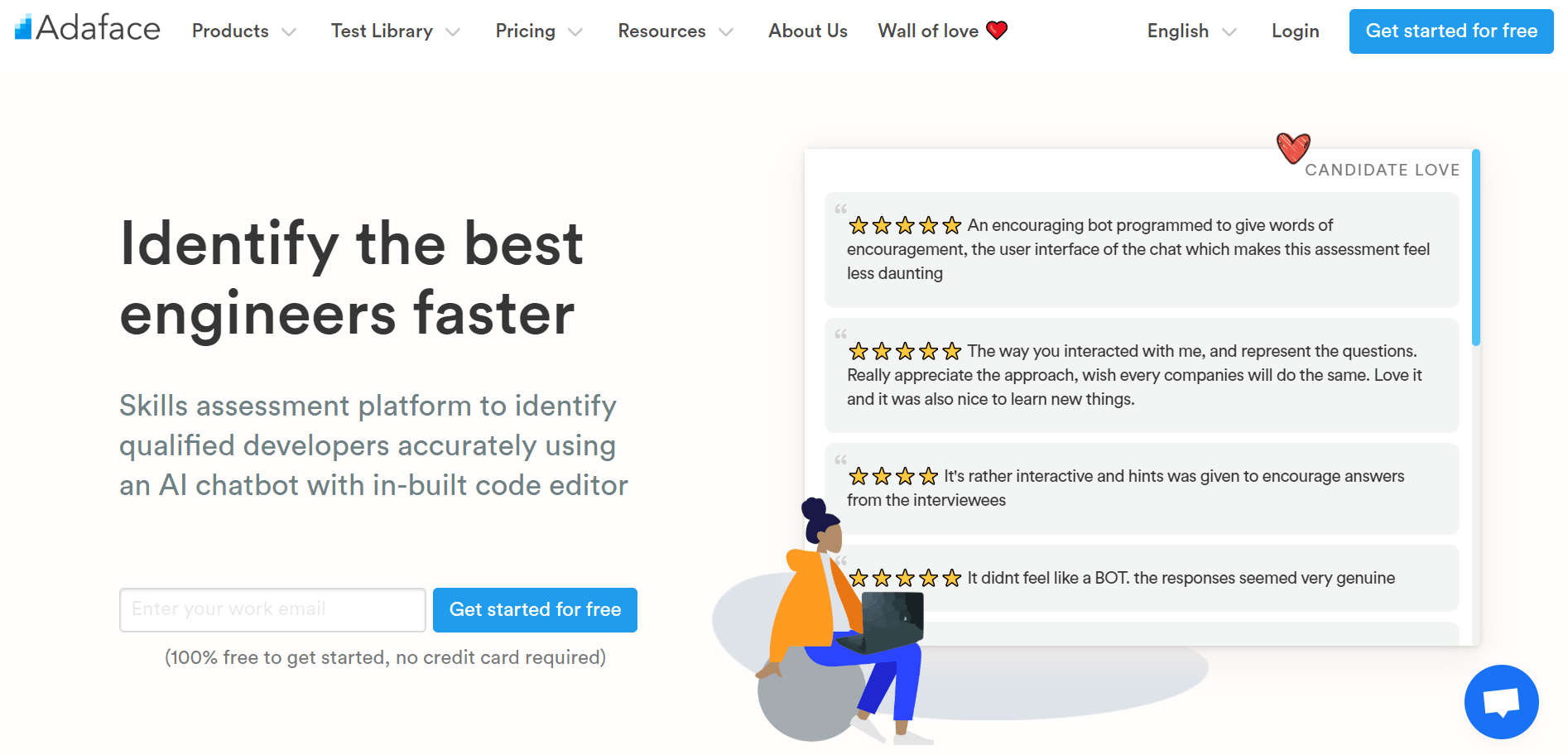 Adaface homepage