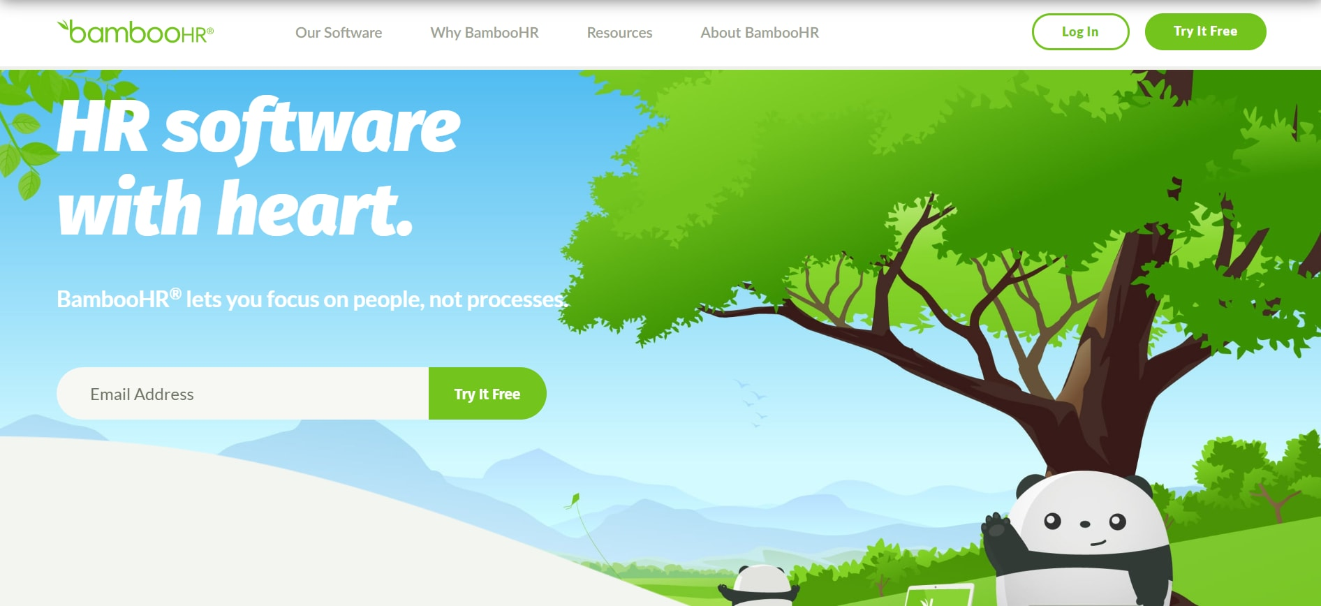 BambooHR homepage