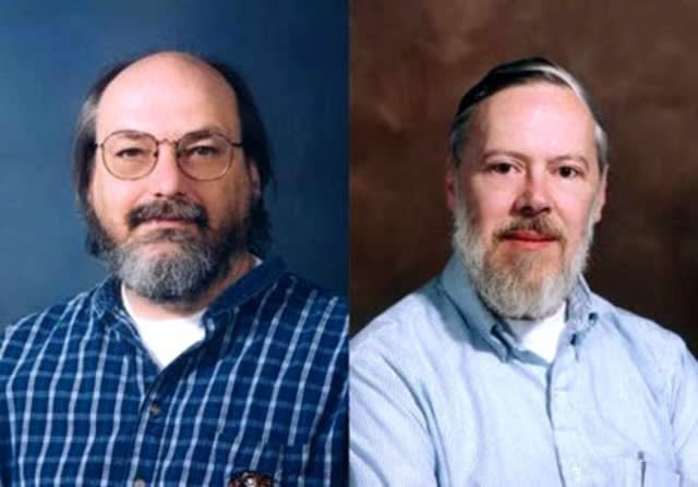Ken Thompson and Dennis Ritchie of UNIX Operating System fame (Timetoast)