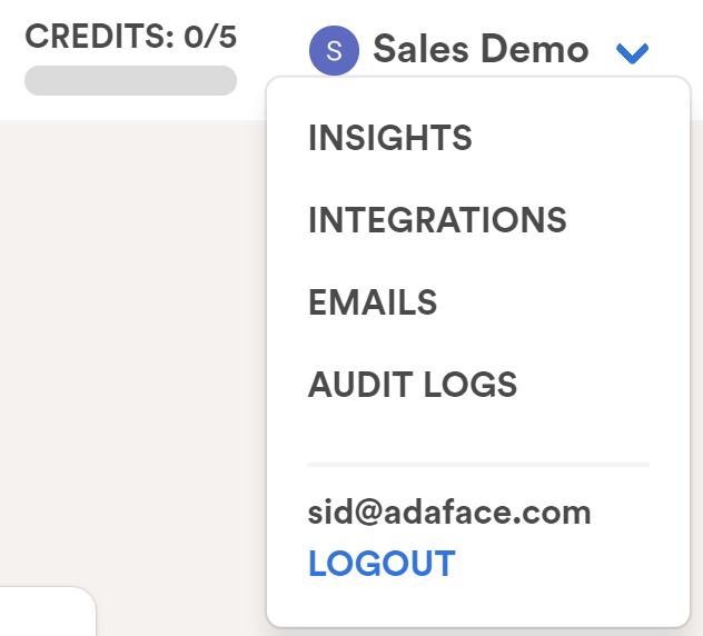ATS integration option in Adaface
