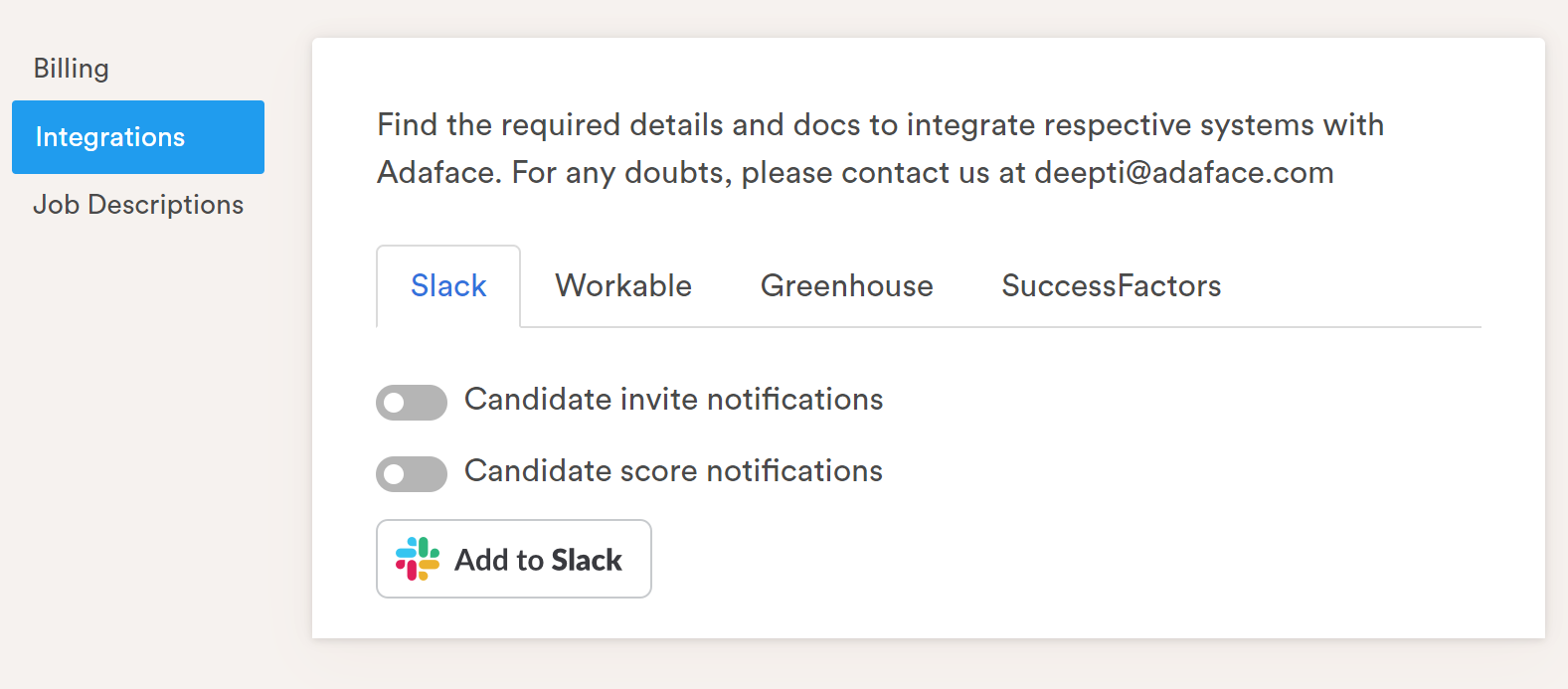slack integration step2