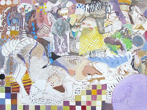 Abstract painting by Grazyna Adamska Jarecka