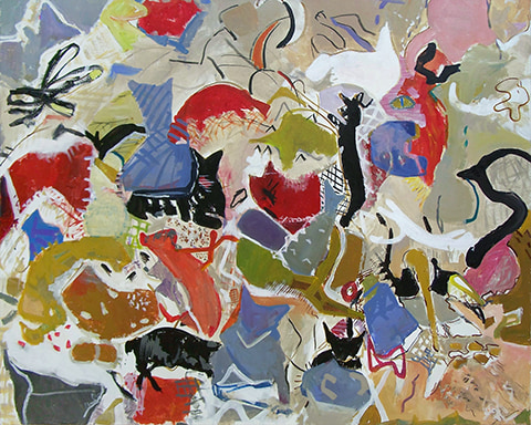 Abstract figure painting by Grazyna Adamska Jarecka