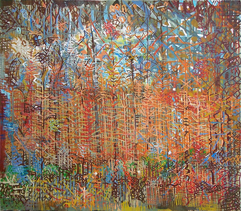 Abstracted landscape painting by Grazyna Adamska Jarecka