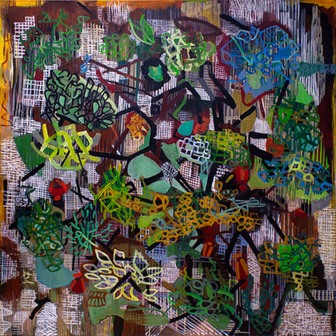 Abstract acrylic painting by Grazyna Adamska Jarecka