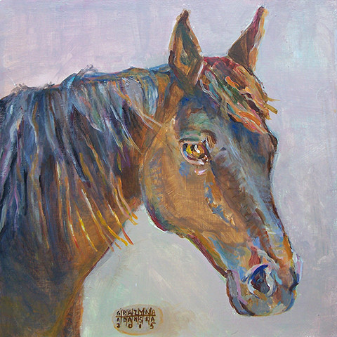 Portrait of a horse by Grazyna Adamska Jarecka