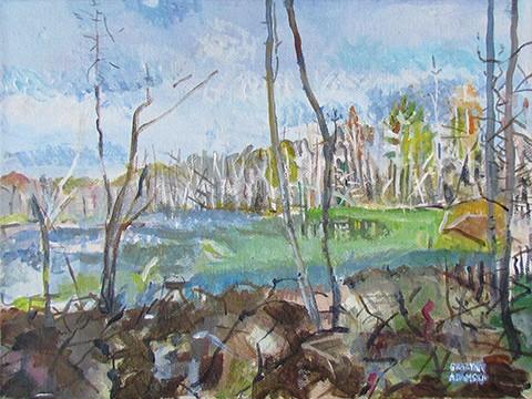 Landscape painting by Grazyna Adamska Jarecka