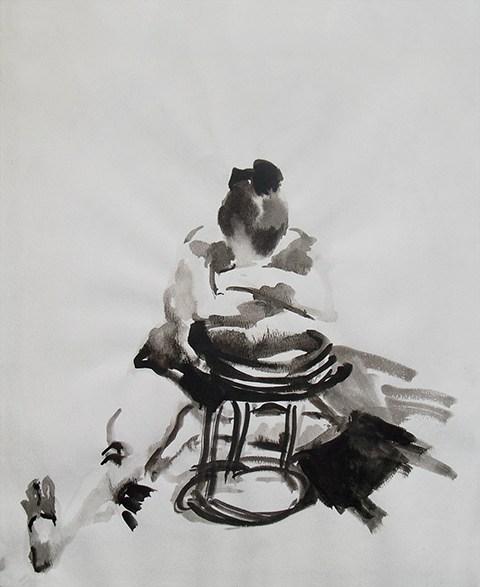 Figurative painting of a woman. by Grazyna Adamska Jarecka