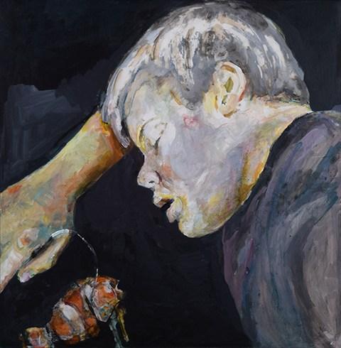 Figurative painting of a boy. by Grazyna Adamska Jarecka