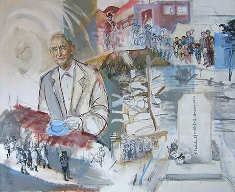 Portrait of a university professor. by Grazyna Adamska Jarecka