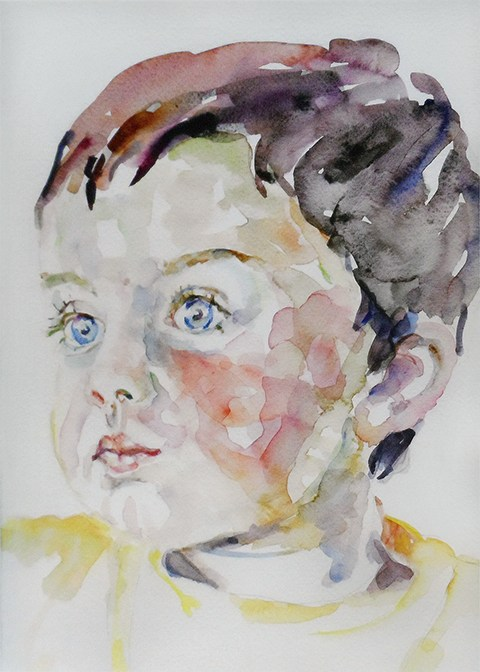 Portrait painting of a young boy by Grazyna Adamska Jarecka