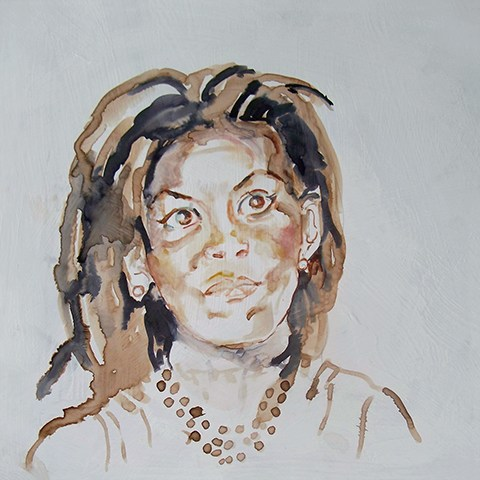Portrait painting of Michelle Obama by Grazyna Adamska Jarecka