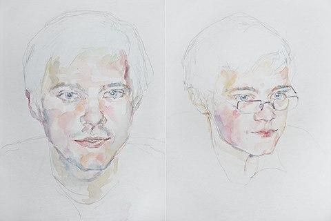 Portrait painting. by Grazyna Adamska Jarecka