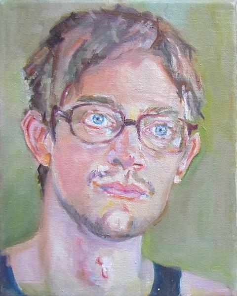 Portrait painting of a man. by Grazyna Adamska Jarecka