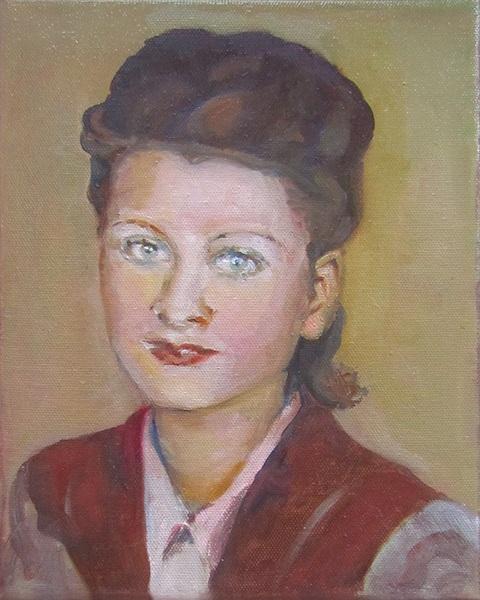 Portrait painting of a woman. by Grazyna Adamska Jarecka
