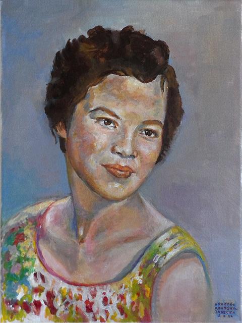 Portrait of a woman. by Grazyna Adamska Jarecka