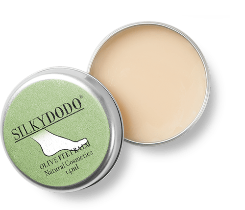 silkydodo fussbalsam aus olivenöl
