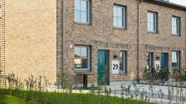 Närbild på ett av de nya bostadsrätterna i Gustavslund, Helsingborg.