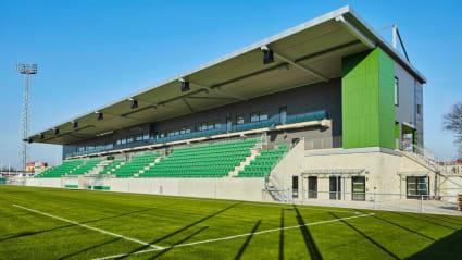 Bild på en åskådarplats vid Kristianstads Arenaområde.