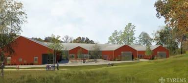 Illustration över nya Brudhammar förskola.